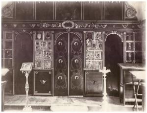 Интерьер Спасской церкви в Григорове. Фото начала ХХ века.