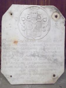 Плита, бывшая над местом упокоения Анны Семёновны Лужиной.