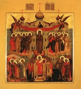Икона Праздника Покрова Пресвятой Богородицы.