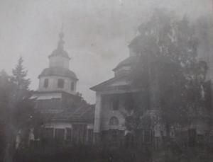 Покровский храм в селе Дьяково. Фото 1940-х.