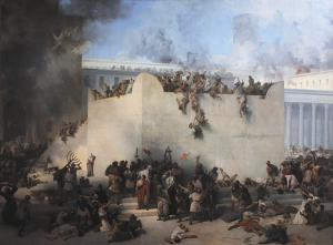 "Франческо Айец. ""Разрушение Иерусалимского храма""."